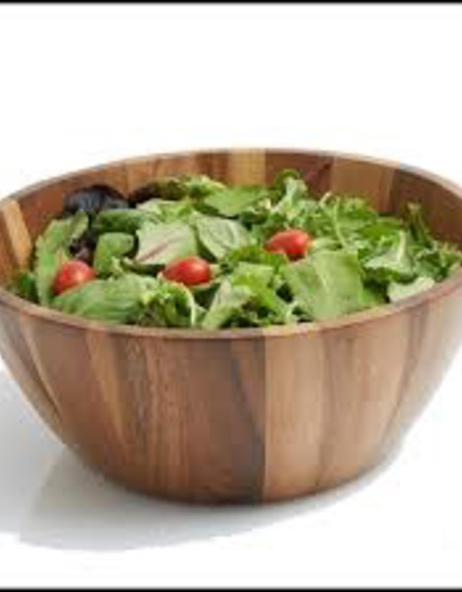 """Natural Living Salad Bowl, Acacia 12"""""""