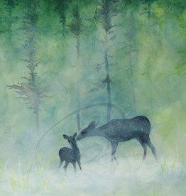 Oladesign Framed Metal Print Deer 8x10