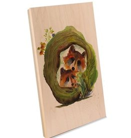 Oladesign Cubby Hole Wood Print 8x8