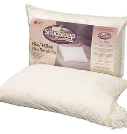 SnugSleep Wool Knop Pillow-Firm, Queen
