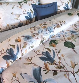 Revelle Ikebana Queen Duvet Cover Set w/Shams