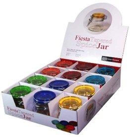 Port-Style Fiesta Coloured Spice Jar CDU/12