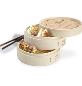 Zen Cuizine Two-Tier Bamboo Steamer 8""