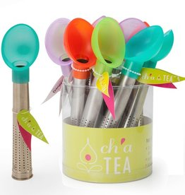 Ch'a Tea Scoop & Brew Tea Infuser Sticks, Asst Colours