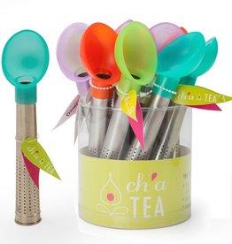Ch'a Tea Scoop & Brew Tea Infuser Sticks, Asst Colours