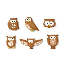 Fox Run Brands Owl Cookie Cutter Set/6