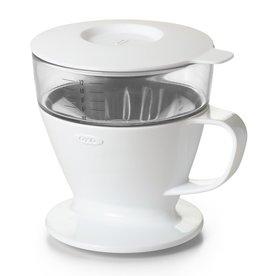 OXO Pour-Over Coffee Dripper, 12oz White