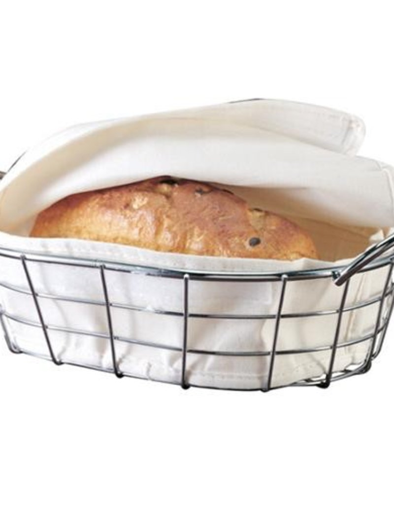 Danesco Bread Basket, Canvas & Chrome