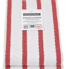 Now Designs S/2 Basketweave Dishcloths, Red