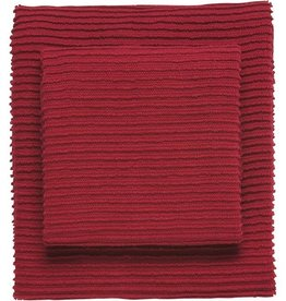 Now Designs S/2 Ripple Dishcloths, Red