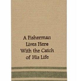 Park Designs/Split P A Fisherman Lives Here Dishtowel