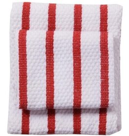 Now Designs Basketweave Dishtowel, Red