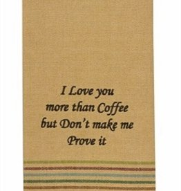 Park Designs/Split P Love You More than Coffee Dishtowel