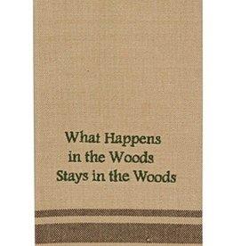 Park Designs/Split P What Happens in the Woods Dishtowel