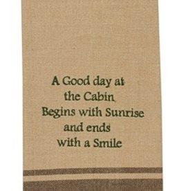 Park Designs/Split P Good Day at the Cabin, Sunrise/Smile Dishtowel