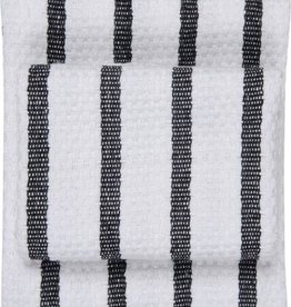 Now Designs Basketweave Dishtowel, Black