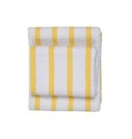 Now Designs Basketweave Dishtowel, Lemon