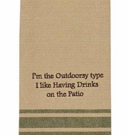 Park Designs/Split P I'm the Outdoorsy Type Dishtowel