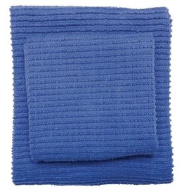 Now Designs S/2 Ripple Dishcloths, Royal