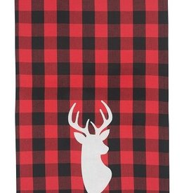 Now Designs Dishtowel, Buffalo Check Deer