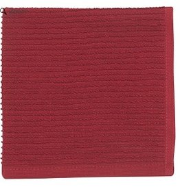 Now Designs S/2 Ripple Dishcloths, Carmine