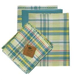 Park Designs/Split P Garden Gate 3 Dishtowels/1 Dishcloth Set