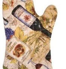 Now Designs Oven Mitt, Wine Lables