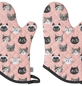 Now Designs Oven Mitt, Cats Meow