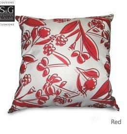Myles International S&G Floratisse 18x18 Cushion, Red