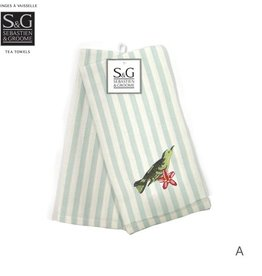 Myles International Embroidered Tea Towel Set/2 - Botanical Birds