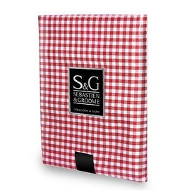 Sebastien & Groome S&G Tablecloth Mini Gingham 60x60 Sq, Red/White