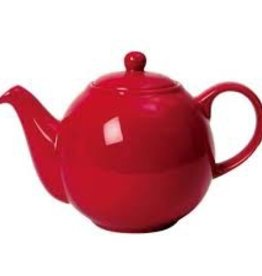 London Pottery 2 Cup Globe Teapot, Red