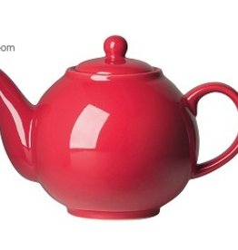 London Pottery 6 Cup Globe Teapot, Red