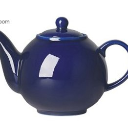 London Pottery 6 Cup Globe Teapot, Cobalt Blue