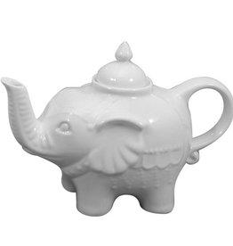 Bia Elephant Teapot, White