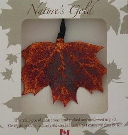 Nature's Gold Iridescent Maple Leaf Ornament