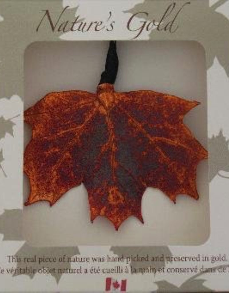 9b26a412541 Nature s Gold Iridescent Maple Leaf Ornament - Rambles Kitchen