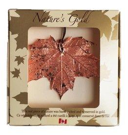 Nature's Gold Copper Maple Leaf Ornament