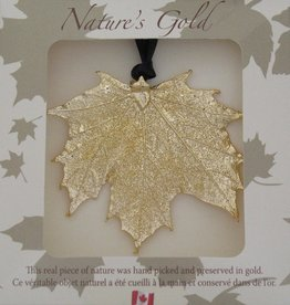 Nature's Gold Gold Maple Leaf Ornament