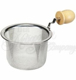 """Metropolitan Teapot Strainer, 2.5"""" w/Wooden Handle"""