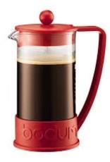 Bodum Brazil French Press coffee maker, 8 cup, 1.0 l, 34 oz, Red