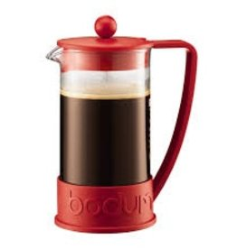 Bodum Brazil French Press coffee maker, 8 cup, 1.0 l, 34 oz, Red