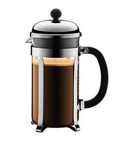 Bodum Chambord Coffee maker, 8 cup, 1.0 l, 34 oz, Matte Finish Chrome