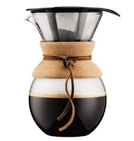 Bodum Pour Over Coffee Maker w Permanent Filter Cork 1.0L/34oz