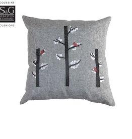 Myles International S&G Pillow Cardinal Forest 18x18