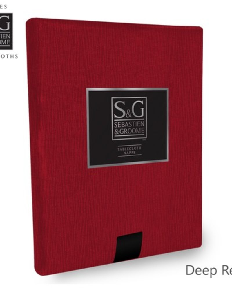 Sebastien & Groome S&G Tablecloth Waves 60x104, Red