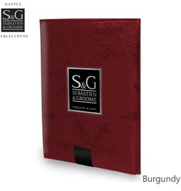 Myles International S&G Tablecloth Snowflakes Jacquard 60X84, Burgundy