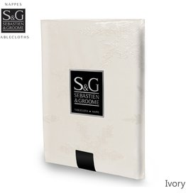 Myles International S&G Tablecloth Snowflakes Jacquard, 60X104, Ivory