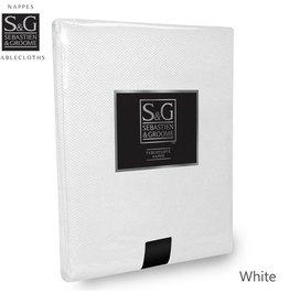 Myles International S&G Tablecloth Basketweave 60X144, White