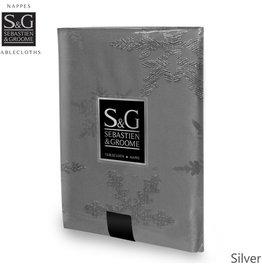 Myles International S&G Tablecloth Snowflakes 60x104, Silver
